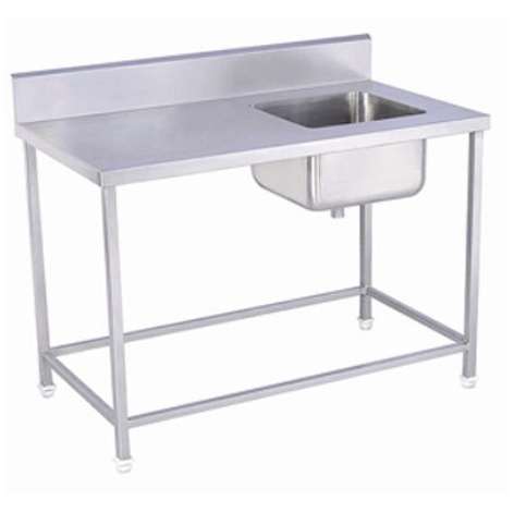 Euroblade Trading Knock Down Stainless Steel Table Bowl Sink (Right)